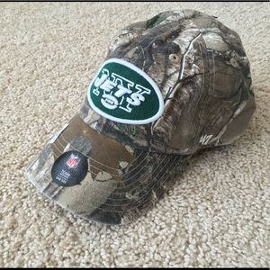 NWT New York Jets camo hunting cap hat men size